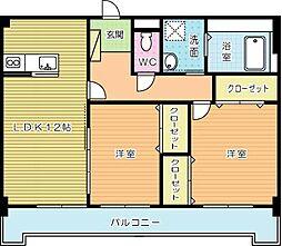 ルボンディールキティ[5階]の間取り