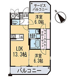 新築エトワール[101号室]の間取り