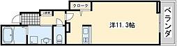 JR阪和線 東岸和田駅 徒歩7分の賃貸アパート 1階1Kの間取り