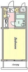 東京都新宿区下落合3丁目の賃貸マンションの間取り