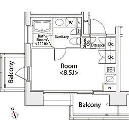 カスタリア戸越[8階]の間取り