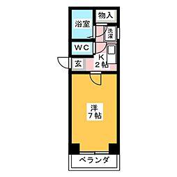 サンクオリティ鶴里[2階]の間取り