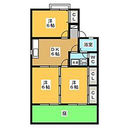 セジュールMIZUNOII[1階]の間取り