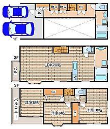 [一戸建] 兵庫県神戸市中央区中山手通7丁目 の賃貸【/】の間取り
