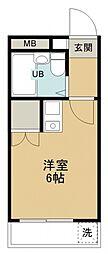 オパール館新所沢[103号室号室]の間取り