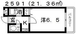 杉村ハイツII[302号室号室]の間取り
