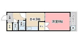 醍醐アーバン[503号室]の間取り
