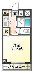 ロジュマン幕張[2階]の間取り
