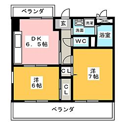ベル小島[5階]の間取り