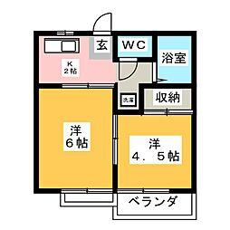 泉ヶ丘パールハイツ[2階]の間取り