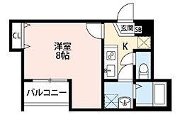 メゾングレース新松戸[102号室]の間取り