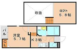 クレオ竹下弐番館[1階]の間取り