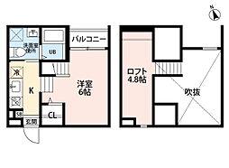 Kiino[2階]の間取り