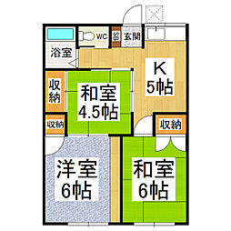 松澤荘[2階]の間取り