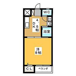 コーポ辻井II[2階]の間取り