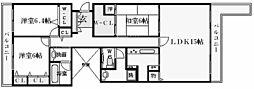 ビクトリアコート夙川[2階]の間取り