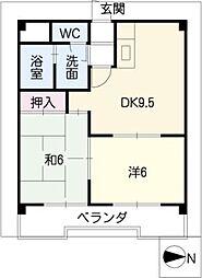 カサ松下[3階]の間取り