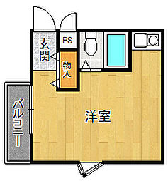 ダイドーメゾン武庫之荘6[3階]の間取り