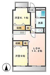 ビアンコ・ロッソ[3階]の間取り