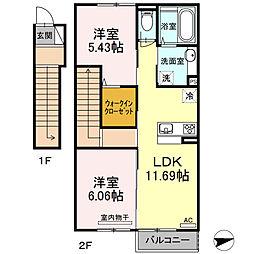 仮)ウィット池田2丁目[2階]の間取り