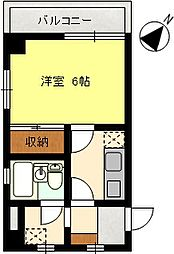 ブルーショア茅ヶ崎[402号室]の間取り