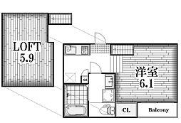 北区八代町二丁目2階建て アパート[1階]の間取り