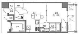 コンソラトゥール笹塚2[502号室]の間取り