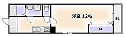 大阪府大阪市浪速区元町1-の賃貸マンションの間取り