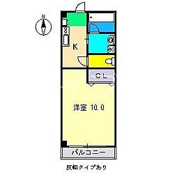 秋櫻館[4階]の間取り