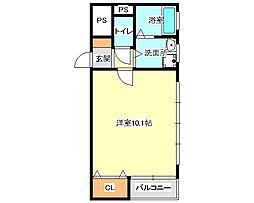 兵庫県神戸市垂水区陸ノ町の賃貸マンションの間取り