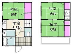 [一戸建] 千葉県市川市平田1丁目 の賃貸【/】の間取り