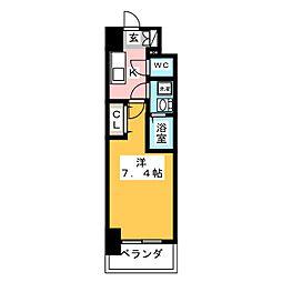 S-RESIDENCE浄心 6階1Kの間取り
