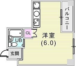 ハイム御影[2階]の間取り