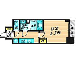 プレサンス福島ミッドエル 6階1Kの間取り