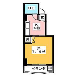 コーポABC[3階]の間取り