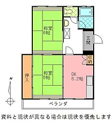 岩田材木ビル[407号室]の間取り