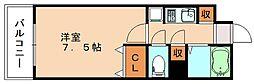 カレッジコート九工大[3階]の間取り