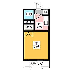 旭ハイツ[2階]の間取り