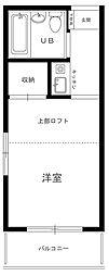 レオパレス武蔵新田[2階]の間取り