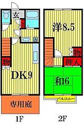 [テラスハウス] 埼玉県越谷市花田7丁目 の賃貸【/】の間取り