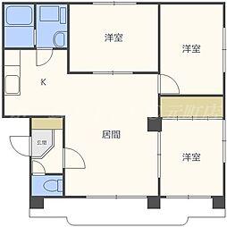 ノースリバーマンション[3階]の間取り
