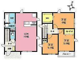 [一戸建] 埼玉県上尾市小泉3丁目 の賃貸【/】の間取り