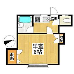 東京都狛江市岩戸南2丁目の賃貸アパートの間取り