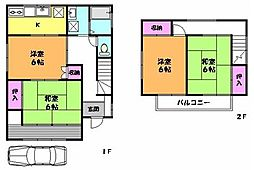 [一戸建] 埼玉県三郷市彦成2丁目 の賃貸【/】の間取り