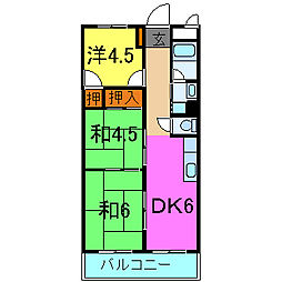 シャルム加古川[406号室]の間取り