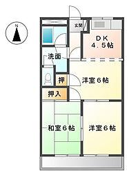 エバーハイム88[1階]の間取り