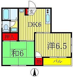 エクレール綾瀬[4階]の間取り