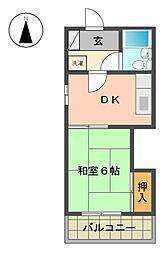 イワタビル[2階]の間取り
