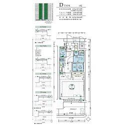 名古屋市営名城線 黒川駅 徒歩3分の賃貸マンション 5階1Kの間取り