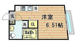 大阪府大阪市西区川口1の賃貸マンションの間取り